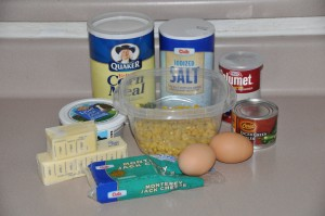 Helen Evans Brown's Corn Chili Bread Ingredients
