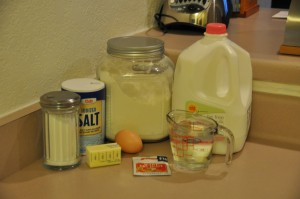 Yeast Griddle Cakes Ingredients