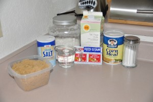 Cornmeal Bread Ingredients