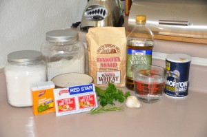 Dark Herb Bread Ingredients