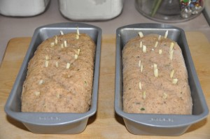 Dark Herb Bread After Second Rising