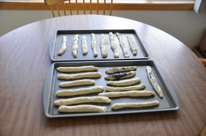 Breadsticks Before Baking