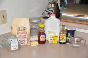 Cracked-Wheat Bread Ingredients