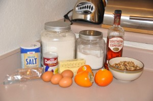 Persimmon Bread Ingredients