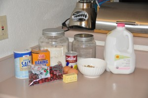 Quick Cranberry Bread Ingredients
