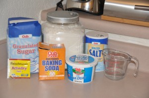 Sour-Cream Bread Ingredients
