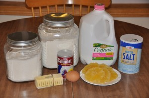 Quick Fruit Bread Ingredients