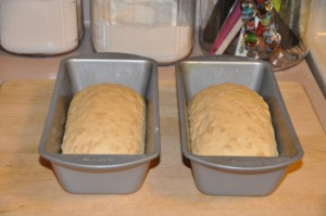 Oatmeal Bread with Cooked Oatmeal After Second Rising