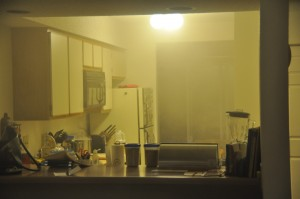 Kitchen Filled with Smoke