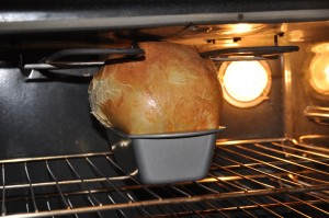 Gluten Bread in Oven