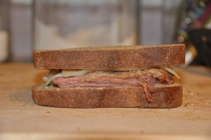 Reuben Sandwich with Pumpernickel Bread I