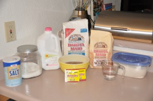 Mrs. Elizabeth Ovenstad's Bread Ingredients