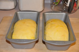 Plain Saffron Bread After Second Rising